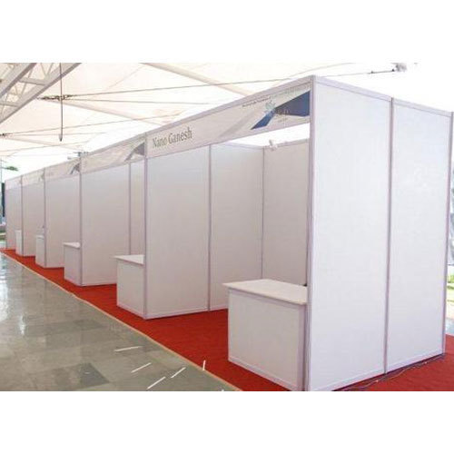 White Exhibition Stall : White octanorm exhibition stall rs square feet
