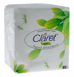 CLARET 100% VIRGIN PULP TISSUE NAPKIN 30X30
