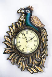 Peacock Design Clock