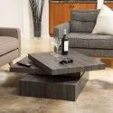 Rotating Square Wooden Coffee Table