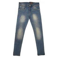 Party Wear Faded Dobby Denim Jeans, Waist Size: 32