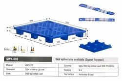 Medium Duty Storage Plastic Pallets 1200 X 1000 X 135