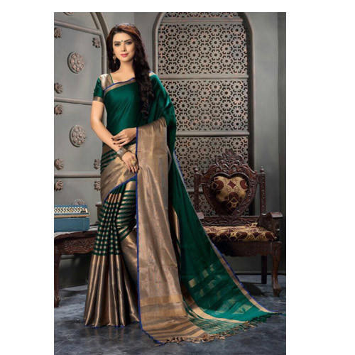 586f550490 Printed Party Wear , Festive Wear Soft Cotton Saree, Rs 660 /piece ...