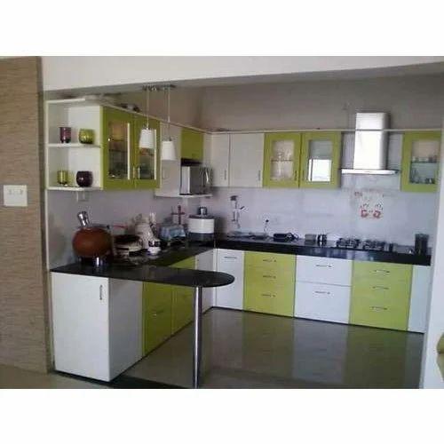 Pvc Membrane Fancy Modular Kitchen