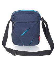 Navy Blue & T.Blue Navy Blue Messenger Sling Bag For Men