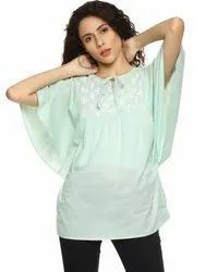 Chikan Butterfly Style Short Lucknowi Top
