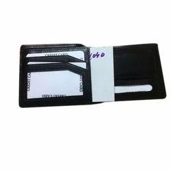 Mens Fancy Black Leather Wallet