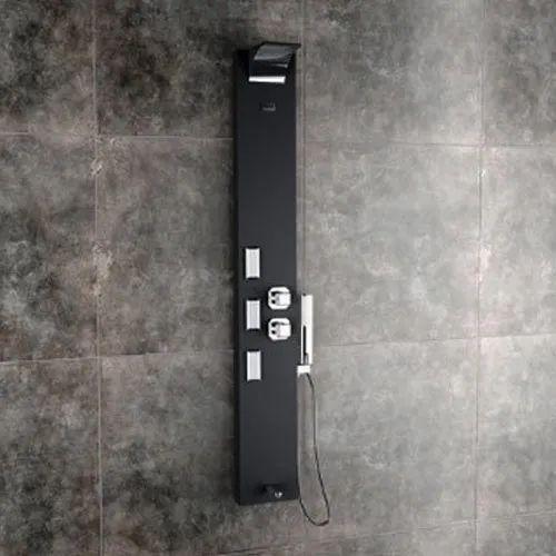 Vito Black Shower Panel