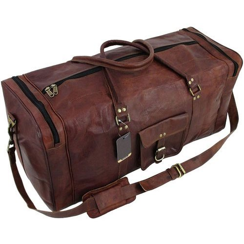 Leather Brown Luggage Fancy Bag