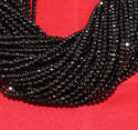 Natural Black Spinel Micro Faceted Stone Beads