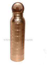 Silver Line Copper Water Bottle