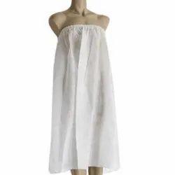 Non Woven Disposable White Gown, Size: Medium