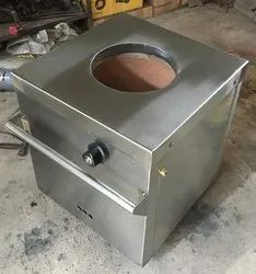Stainless Steel Square Gas Tandoor, For Hotel, Capacity: Size : 24x24