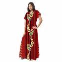 Ladies Cotton Elegant Half Sleeves Printed Gown, Size: S & M