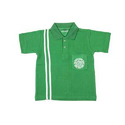 Green Plain Kids Cotton Matty School T- Shirt, Age Group: 5 - 12 Years
