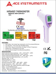 Non Contact Body Temperature Infrared Thermometer, For Hospital