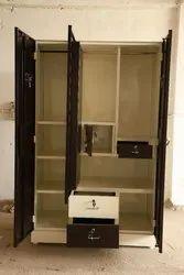 Brown Metal 3 Door Dressing Steel Almirah, For Home