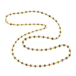 18kt Gold and Diamond Necklace, Packaging: Plastic Bag