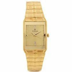 Analog Golden Titan Watches, Warranty: 12 Month