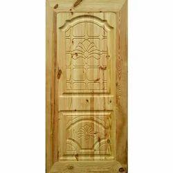 Carving Structure Pine Wood Door