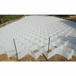 Hdpe White Plastic Cell Field Concrete (Pmgsy), Road, Thickness: 350