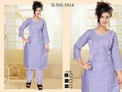 Designer Cotton Kurti And Palazzo Set