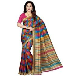Printed Party Wear Ladies Silk Saree, 6.3 m (with blouse piece)