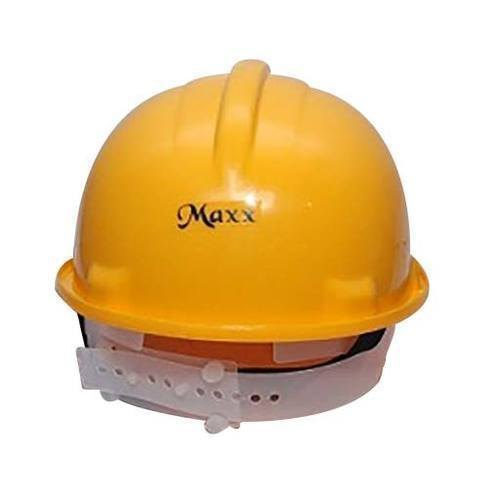 Yellow Plastic Maxx Industrial Safety Helmet, Packaging Type: Box