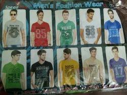 Men & Boys Cotton Mens V Neck Half Sleeve T Shirt, Size: Medium, XL, Large