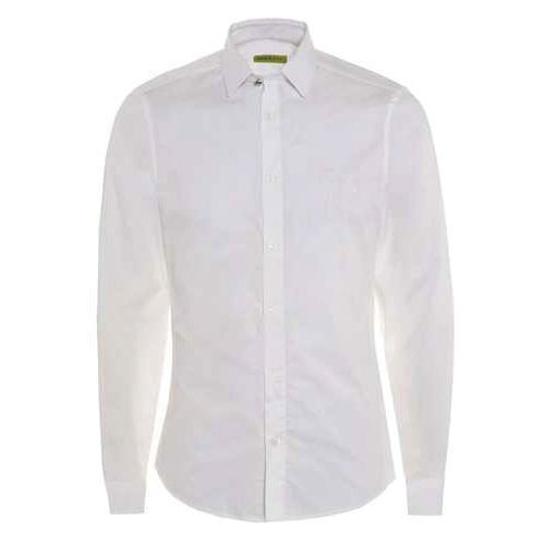 White Formal Plain Shirt