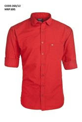 VR Clothing Khadi Red Shirt