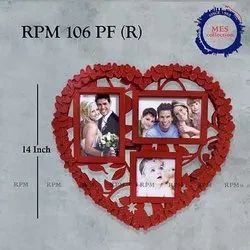 Plastic Red Heart Photo Collage, Size: 14 Inch