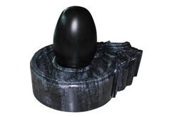 Shiva Lingam with Black Stone Base