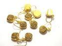 Golden Druzy Earring