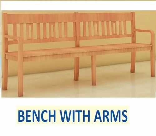 Fantastic Bench With Arm Backrest 8 Ft Long Andrewgaddart Wooden Chair Designs For Living Room Andrewgaddartcom