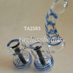 Glass Smoking Transparent Colour Double Chamber Bubbler