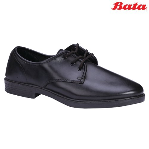 Bata Glance Black Lace Up School Shoes