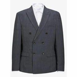 Regular Fit Cotton Checked Blazer