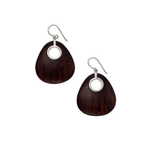 Hook Type Wooden Earring