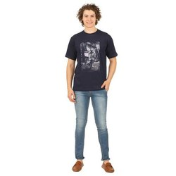 Printed Round Mens Cotton T Shirt
