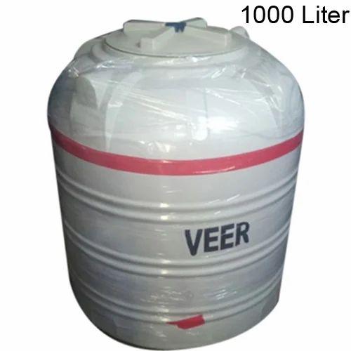 Veer Plastic Water Tank Capacity 1000 Liter Rs 3 5 Litre Np Plasto Industries Id 15475490591