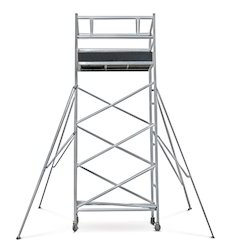 Double width Aluminium Mobile Tower Scaffolding without ...