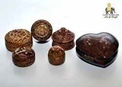 Soap Stone Carved Boxes