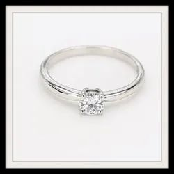 0.30ct Solitaire Ring For Female D VS1 14k White Gold 1.95gm Round Brilliant Lab Grown HPHT Diamond