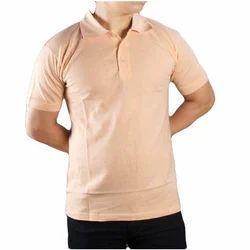 Half Sleeves Soft Feel Plain Collar Polo T Shirts