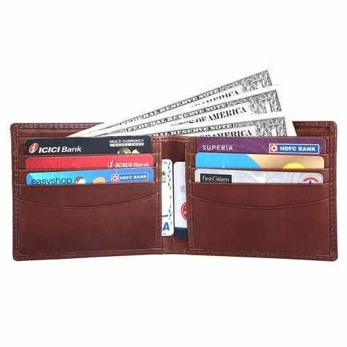 1a5b76b968ac Rfid Blocking Bi Fold Genuine Leather Slim Leather Wallet For Men Brown