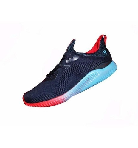51691dc55a70a Men Adidas Alphabounce Navy Blue Red Sport Shoes