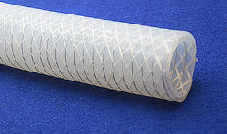Silicone Hose Reinforced with Polyester Braiding and SS 316