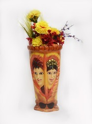 Male-Female Printed Vase In Amazing Colour And Shine