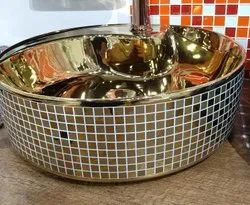 Gold Designer Wash Basin
